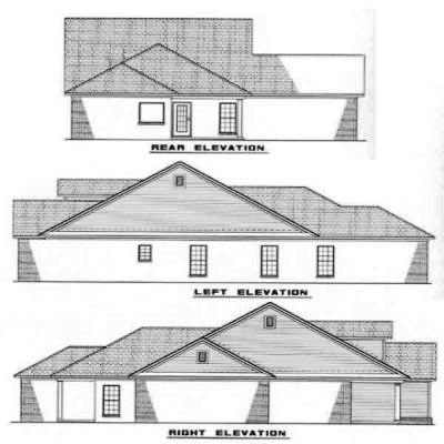 Rear Elevation Plan: 12-227