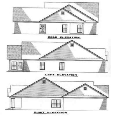 Rear Elevation Plan: 12-228