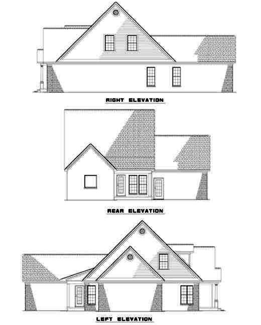Rear Elevation Plan: 12-231