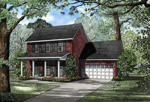 Southern-colonial Style Home Design Plan: 12-233