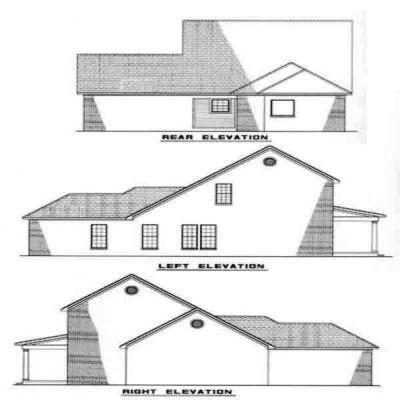 Rear Elevation Plan: 12-233