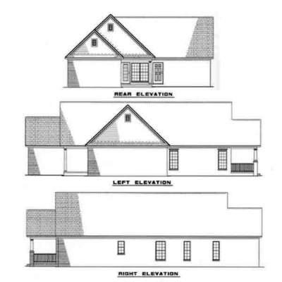Rear Elevation Plan: 12-234