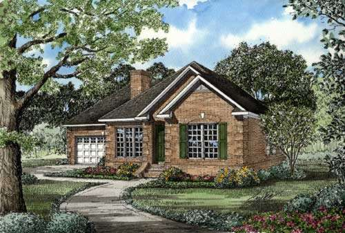 European Style House Plans Plan: 12-235