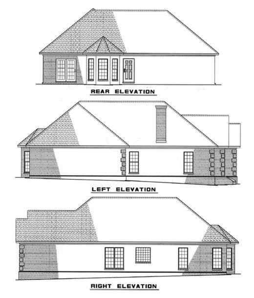 Rear Elevation Plan: 12-235