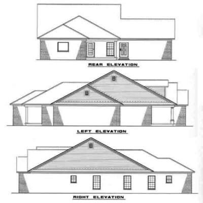 Rear Elevation Plan: 12-236