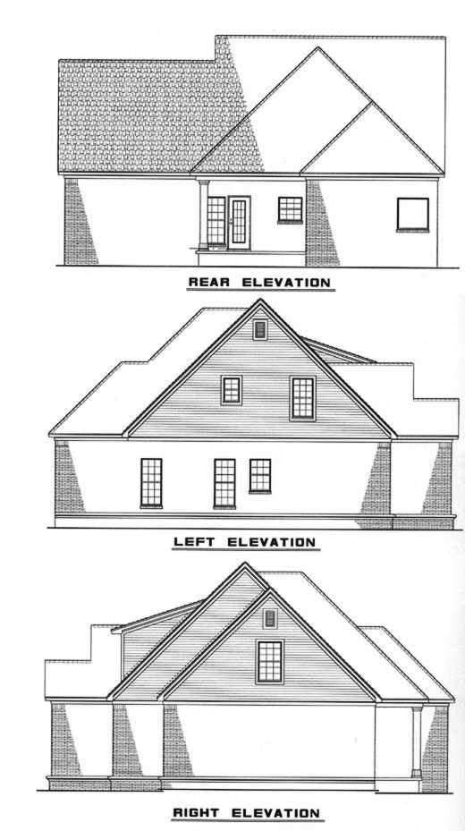 Rear Elevation Plan: 12-237