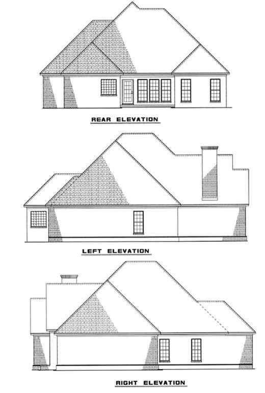 Rear Elevation Plan: 12-238