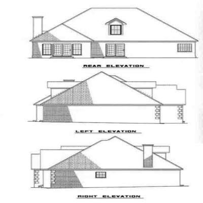 Rear Elevation Plan: 12-240