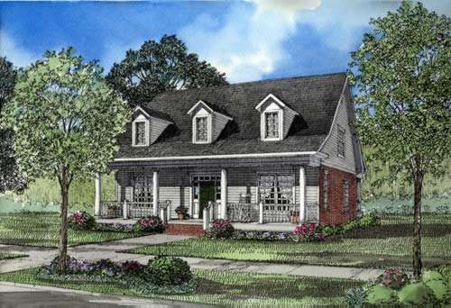 Southern Style Floor Plans Plan: 12-242