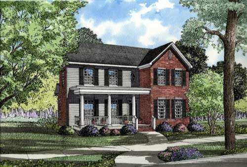 Southern Style Floor Plans Plan: 12-244