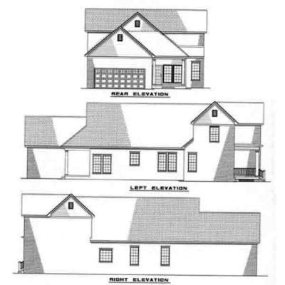 Rear Elevation Plan: 12-244