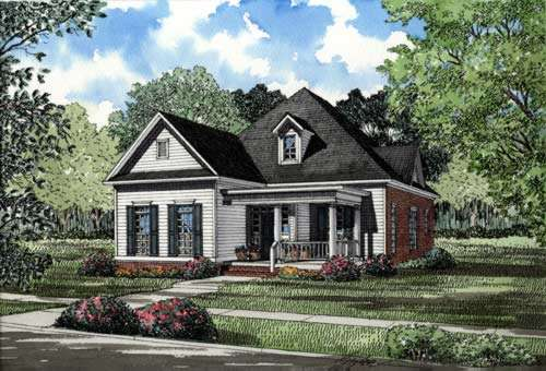 Southern Style Home Design Plan: 12-249
