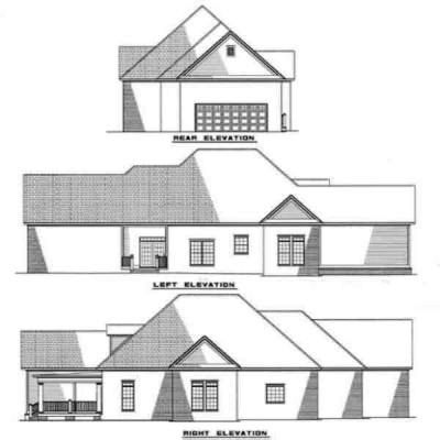 Rear Elevation Plan: 12-249