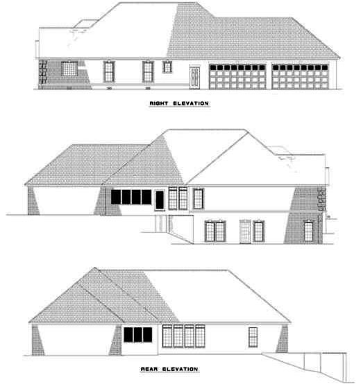 Rear Elevation Plan: 12-250
