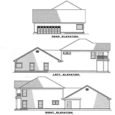 Rear Elevation Plan: 12-251