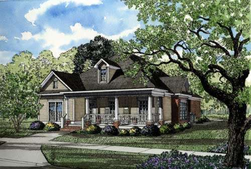 Southern Style Home Design 12-252