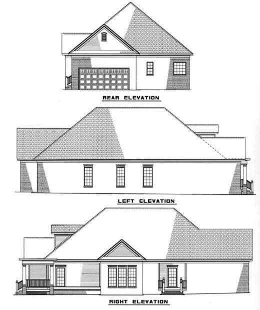 Rear Elevation Plan: 12-252