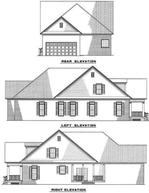 Rear Elevation Plan: 12-253