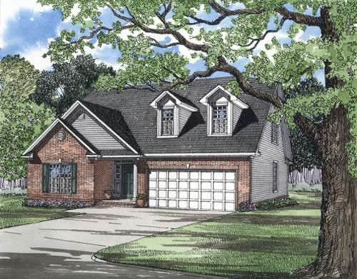 Traditional Style Home Design Plan: 12-254