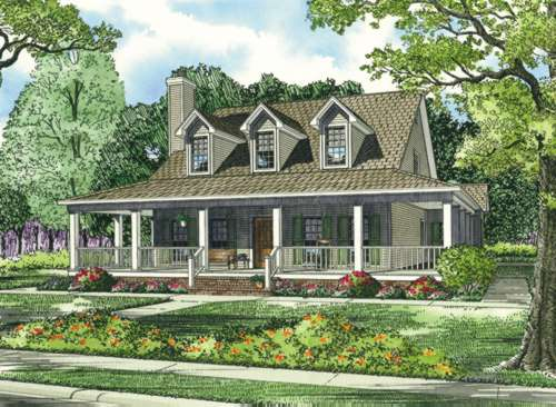 Farm Style Home Design Plan: 12-255
