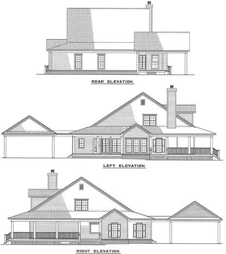Rear Elevation Plan: 12-255