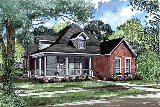 Country Style Floor Plans Plan: 12-256