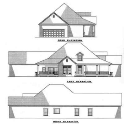 Rear Elevation Plan: 12-256