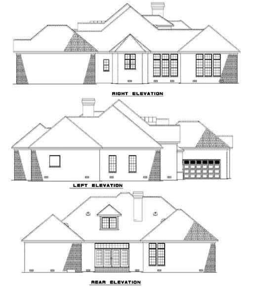 Rear Elevations Plan:12-257