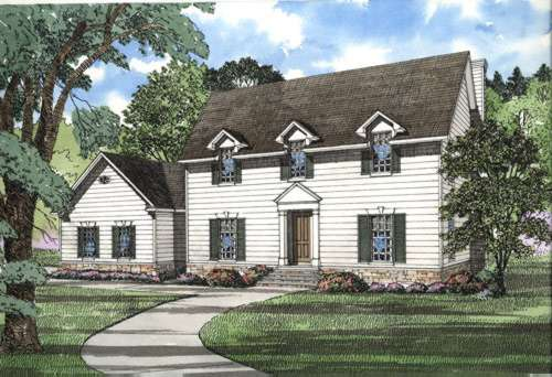 Early-american Style House Plans Plan: 12-258
