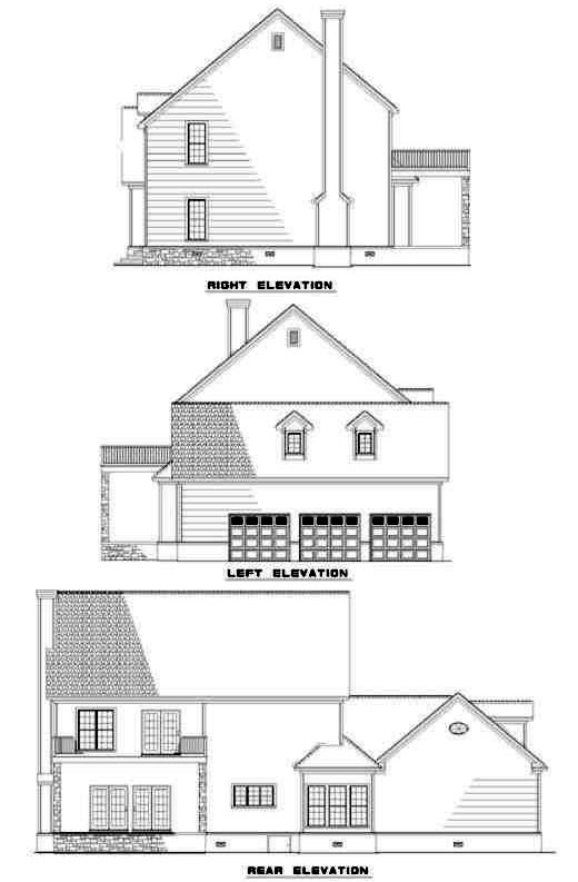 Rear Elevation Plan: 12-258