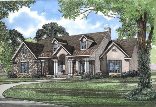 Country Style Floor Plans Plan: 12-260