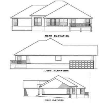 Rear Elevation Plan: 12-261