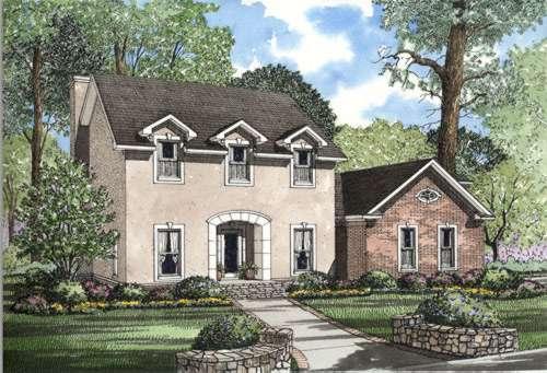 European Style Home Design Plan: 12-262