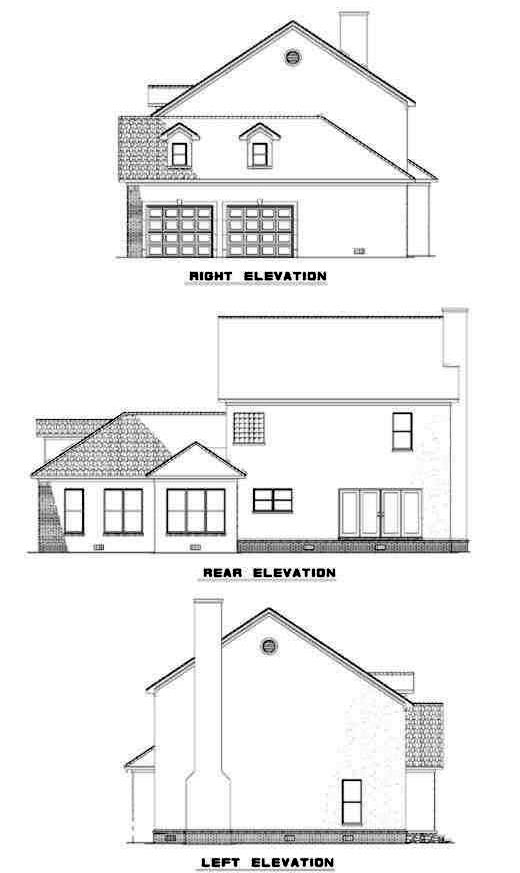 Rear Elevation Plan: 12-262
