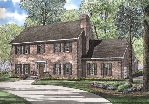 Early-american Style House Plans Plan: 12-265