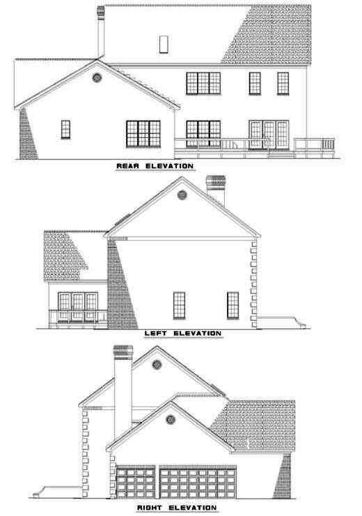 Rear Elevation Plan: 12-265