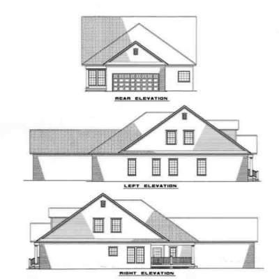 Rear Elevation Plan: 12-267