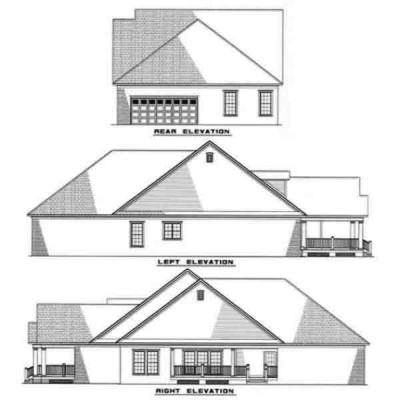 Rear Elevation Plan: 12-268