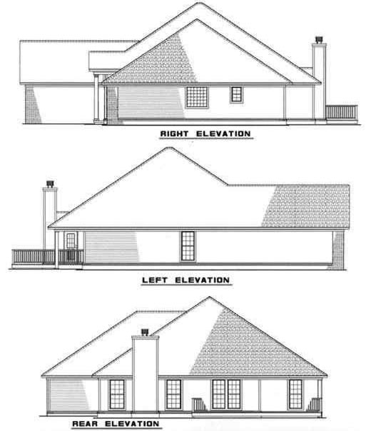Rear Elevation Plan: 12-269