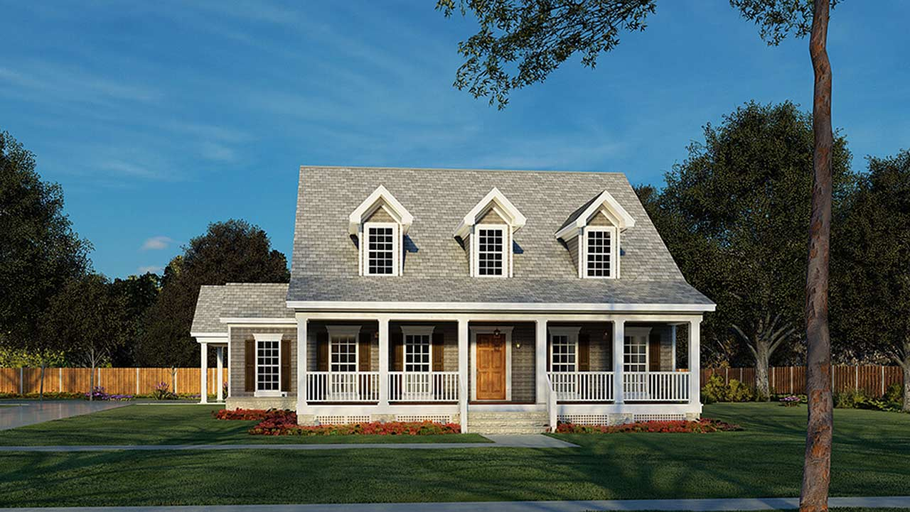 Country Style Floor Plans Plan: 12-270