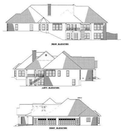 Rear Elevation Plan: 12-271