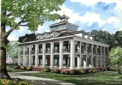 Greek-Revival Style Home Design Plan: 12-272
