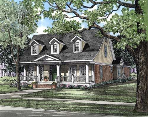 Southern Style Floor Plans Plan: 12-273
