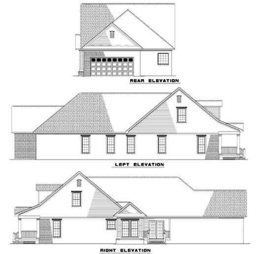 Rear Elevation Plan: 12-273