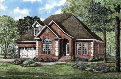 European Style House Plans Plan: 12-275