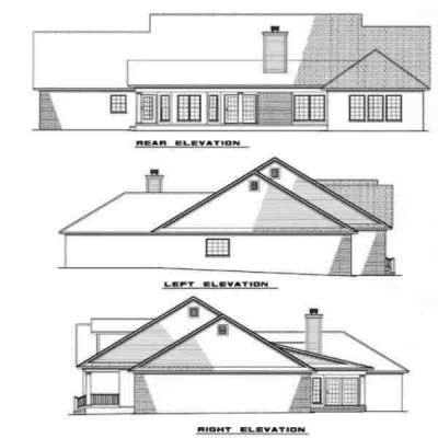 Rear Elevation Plan: 12-276