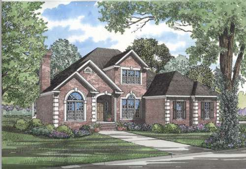 European Style Home Design Plan: 12-277