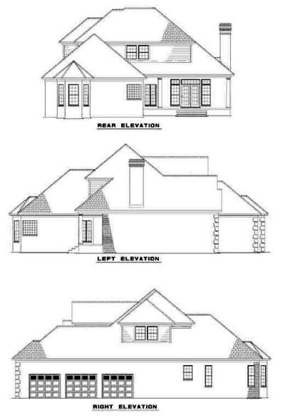 Rear Elevation Plan: 12-277