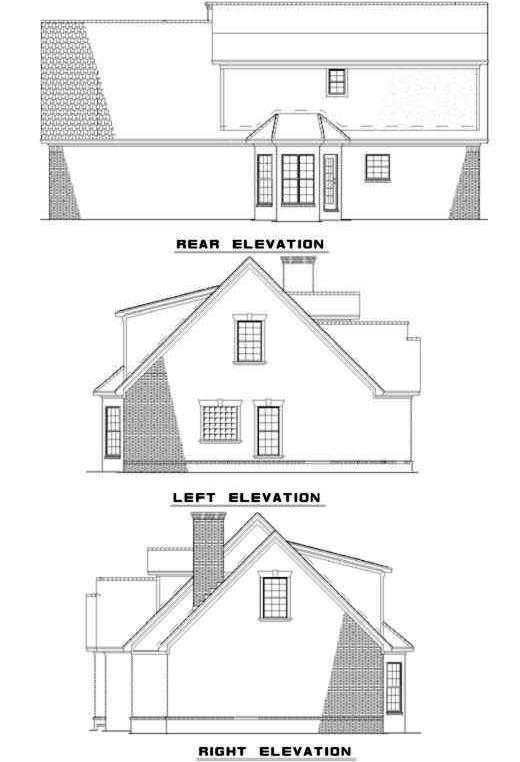 Rear Elevation Plan: 12-278