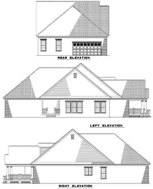 Rear Elevation Plan: 12-279